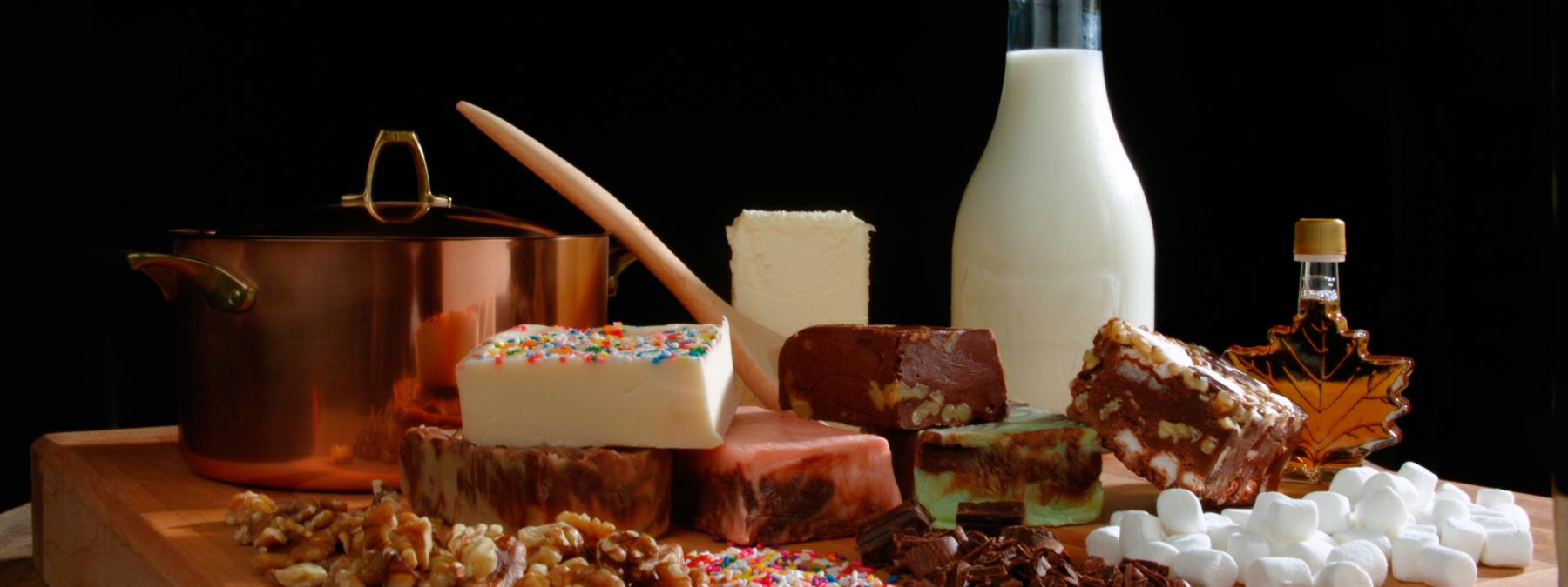 Sweet, Butter-Cream Mill-Made Fudge