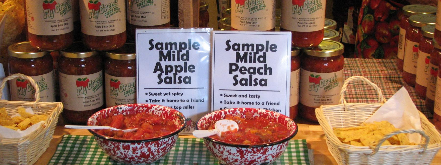 Sample our Apple Salsa